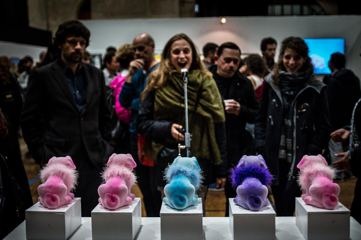 Internet, Est-ce que tu m'aimes? à l'exposition Variation Show Off 2015 . Crédit Photo: Quentin Chevrier