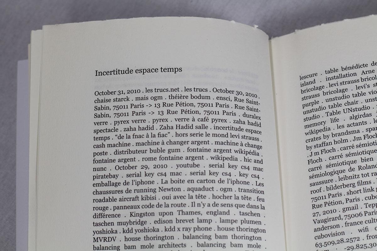 Incertitude Espace Temps, chapitre Octobre 2010